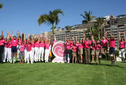 Staff ready for Carrera de las Empresas