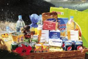 Velkomstpakke med mat til hele familien